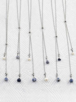 Proud Pearls new collection Dutch Delftware choker necklaces