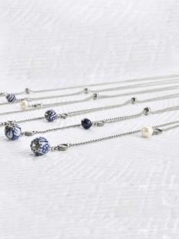 Proud Pearls new collection Dutch Delftware necklaces