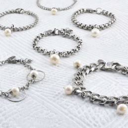 Proud Pearls new collection Goddesses stainless steel bracelets