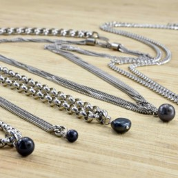 Proud Pearls new collection Black pearls necklaces