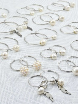 Proud Pearls new collection silver hoop rings