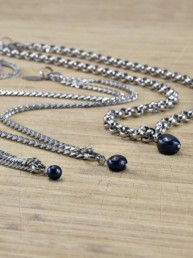 Proud Pearls new collection Black Pearls stainless steel necklaces & bracelets